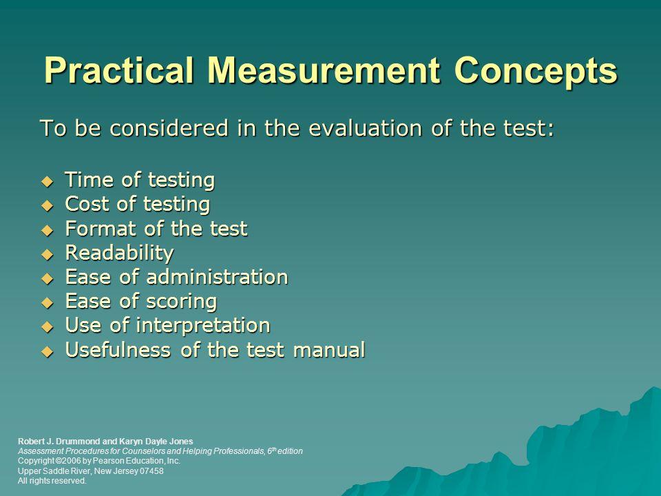 Practical Measurement Concepts