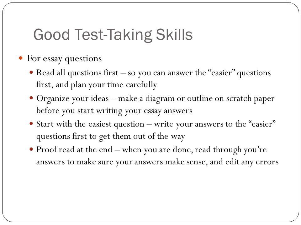 Good Test-Taking Skills