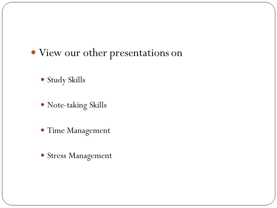 View our other presentations on