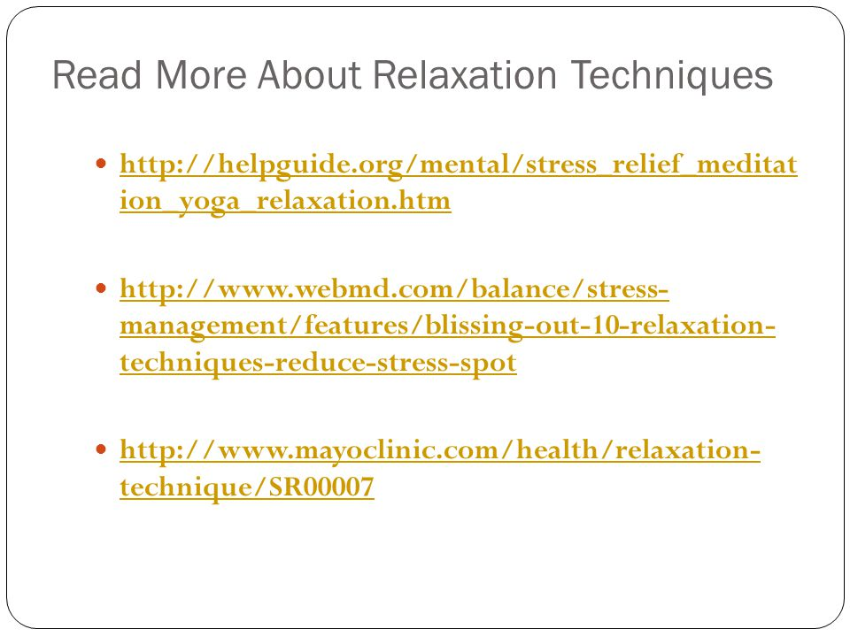 Read More About Relaxation Techniques