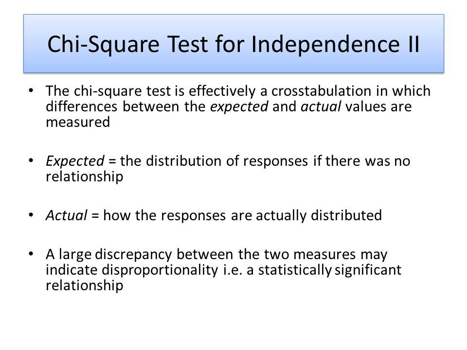 Chi-Square Test for Independence II