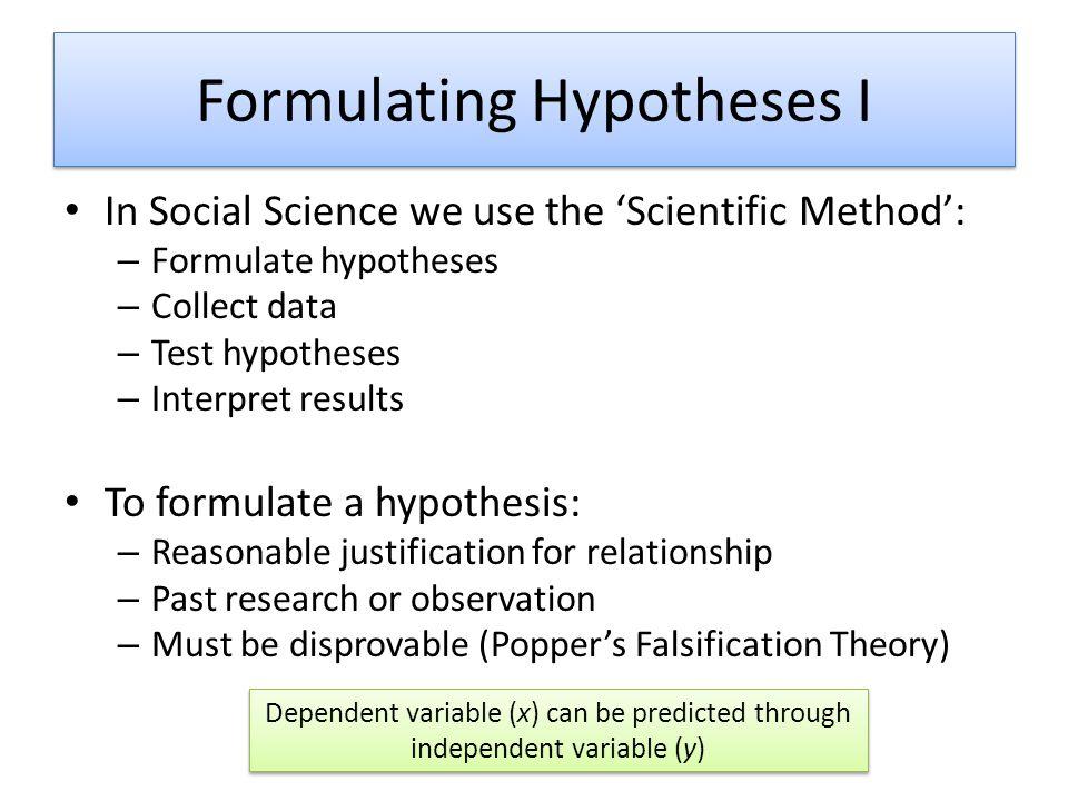 Formulating Hypotheses I