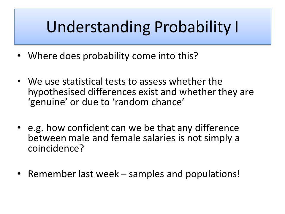 Understanding Probability I