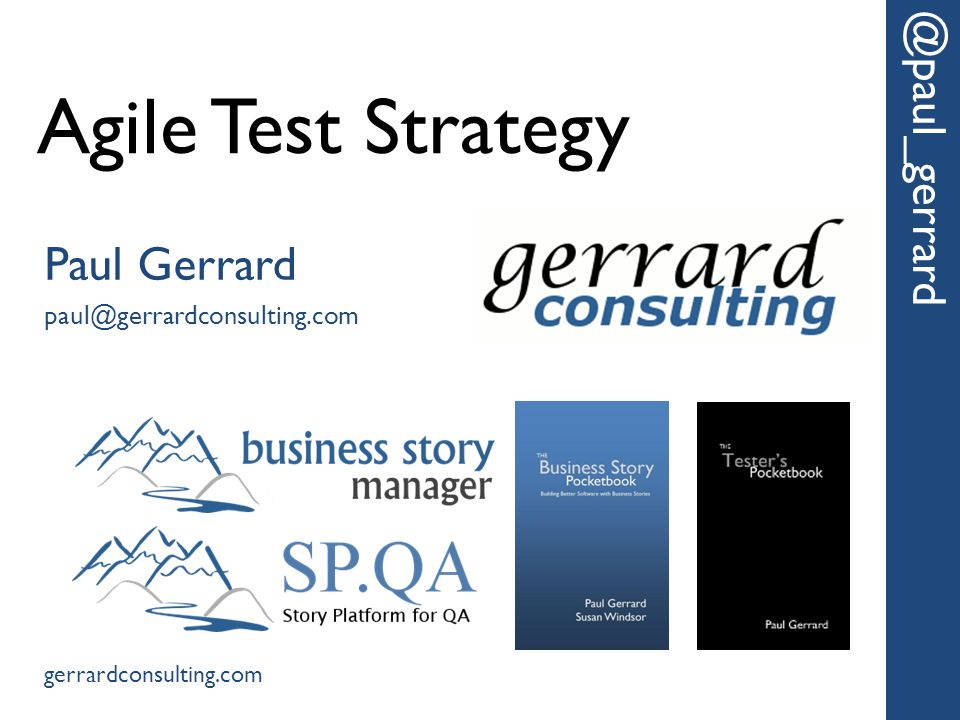 Intelligent Assurance and Testing @paul_gerrard