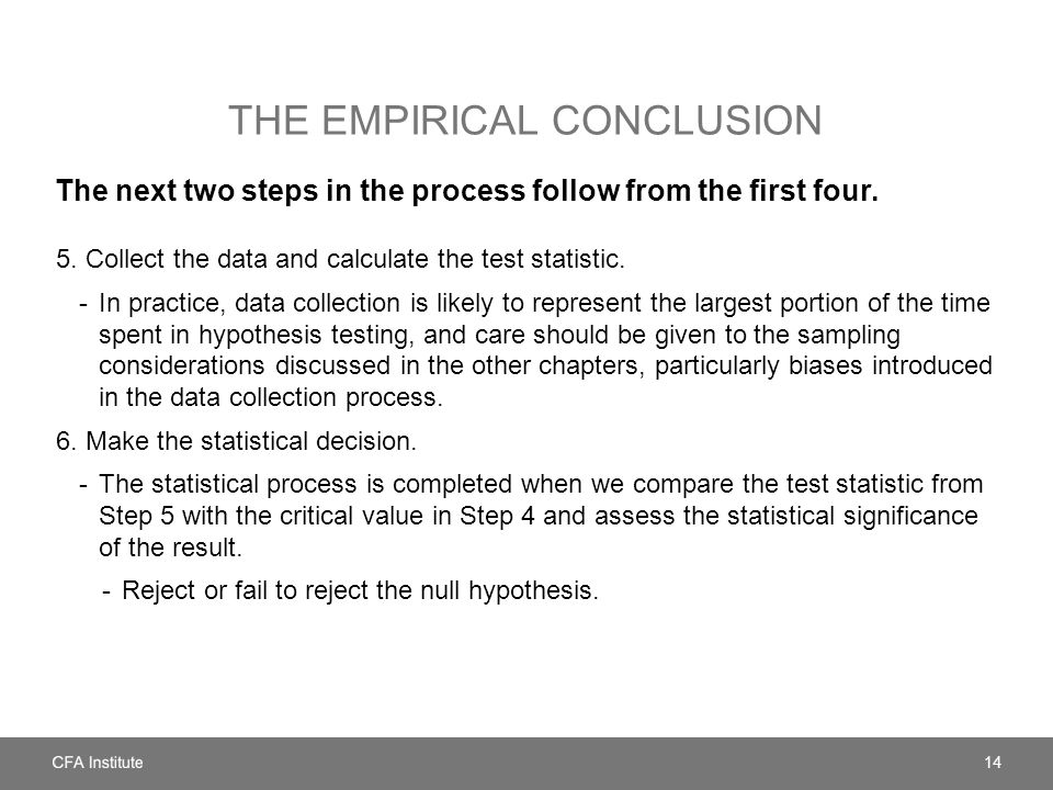 The empirical conclusion