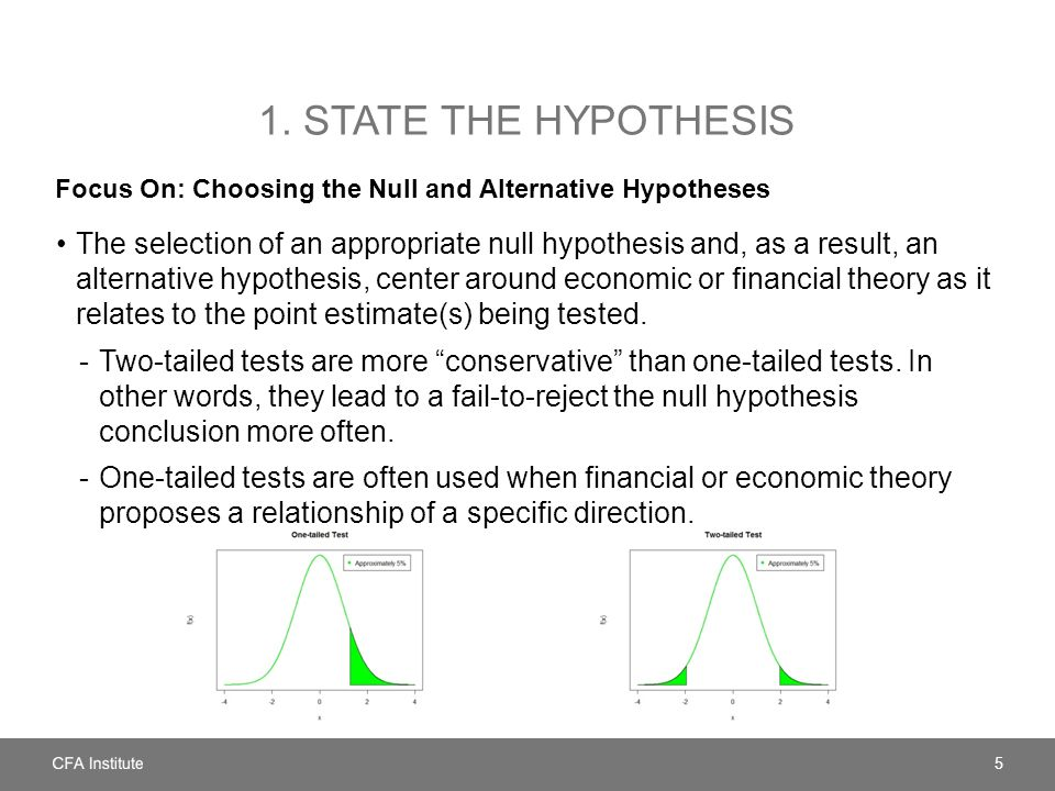 1. State the hypothesis Focus On: Choosing the Null and Alternative Hypotheses.