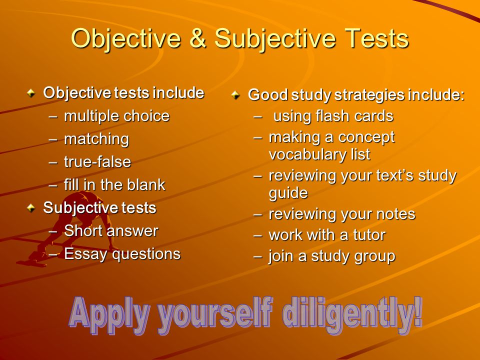 college test taking chapter ppt video online  objective subjective tests