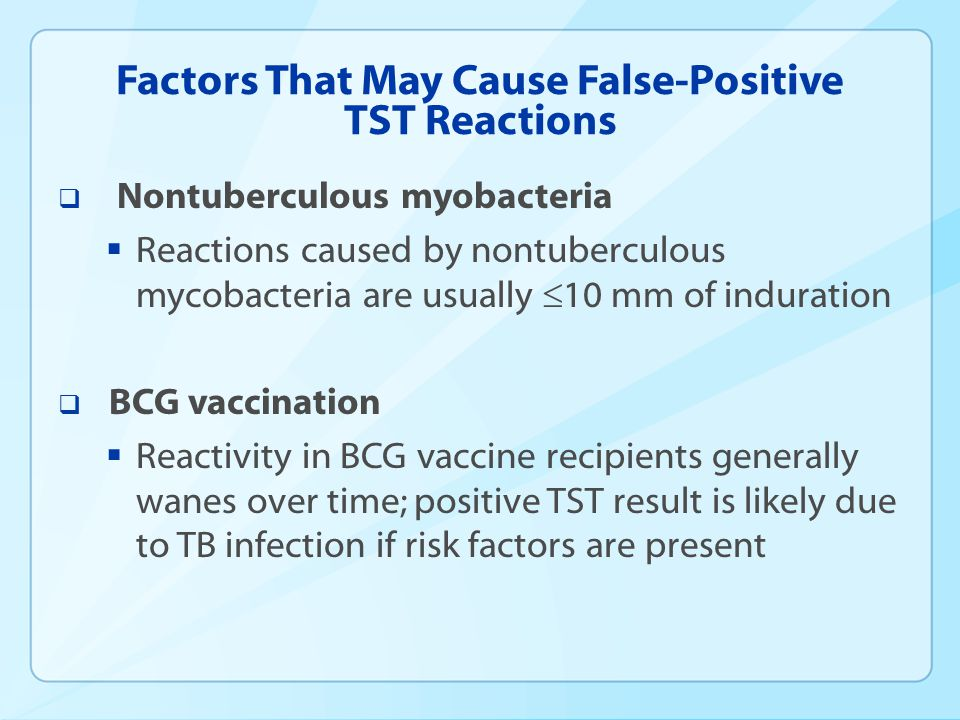 Factors That May Cause False-Positive TST Reactions
