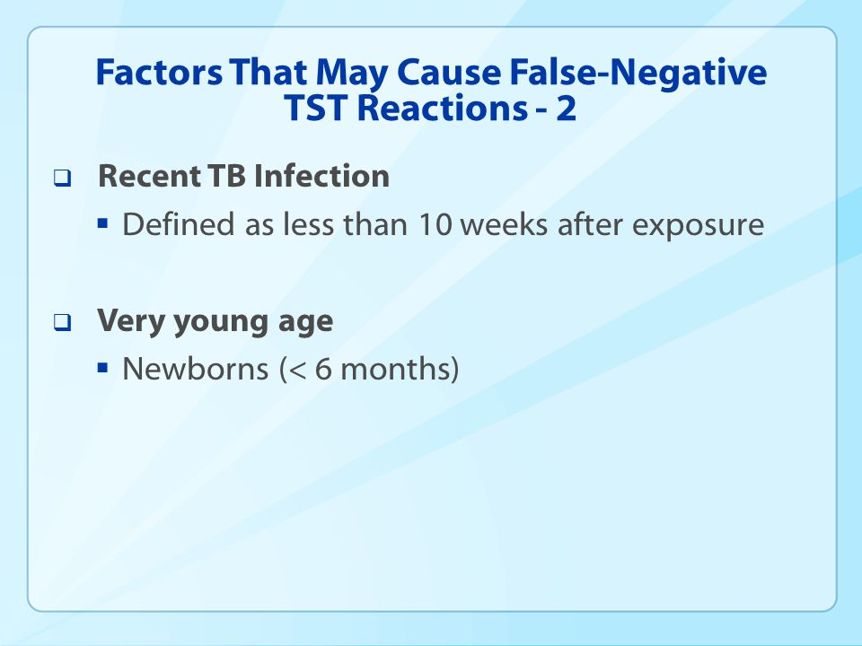 Factors That May Cause False-Negative TST Reactions - 2