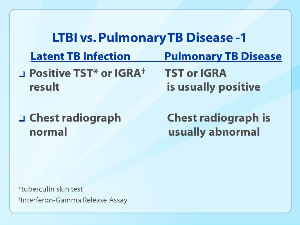LTBI vs. Pulmonary TB Disease -1