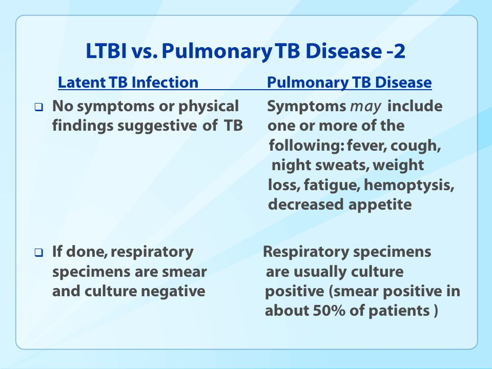 LTBI vs. Pulmonary TB Disease -2