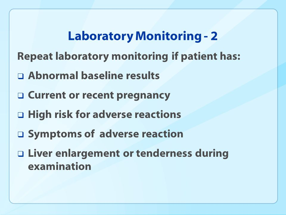 Laboratory Monitoring - 2