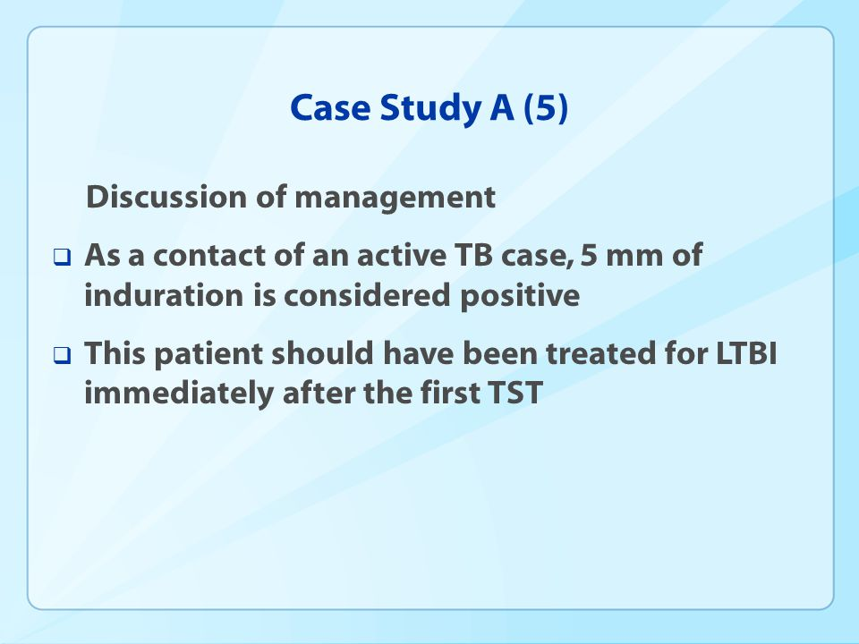 Case Study A (5) Discussion of management