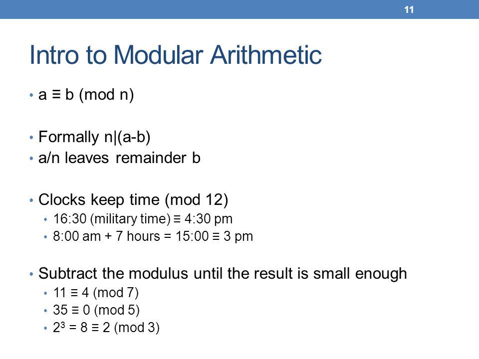 Intro to Modular Arithmetic
