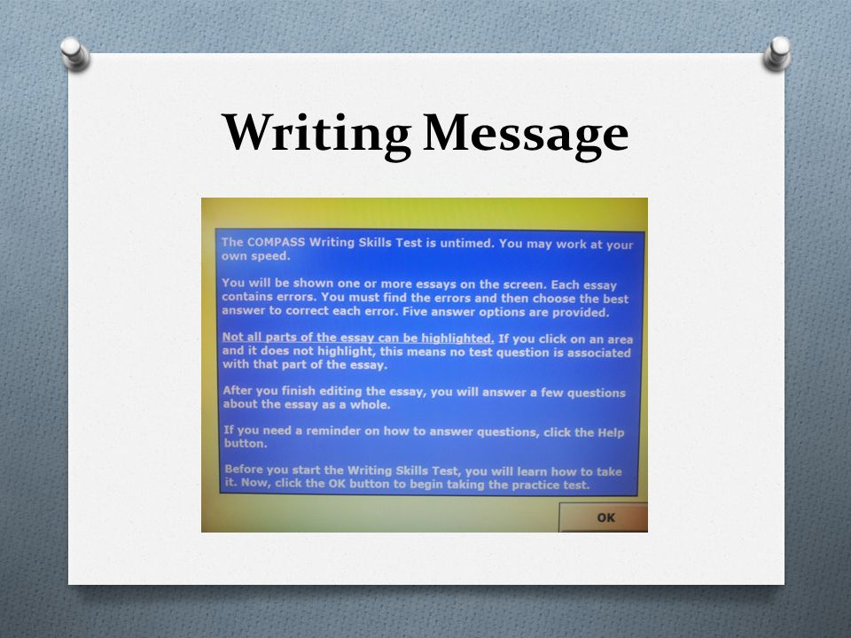 Writing Message