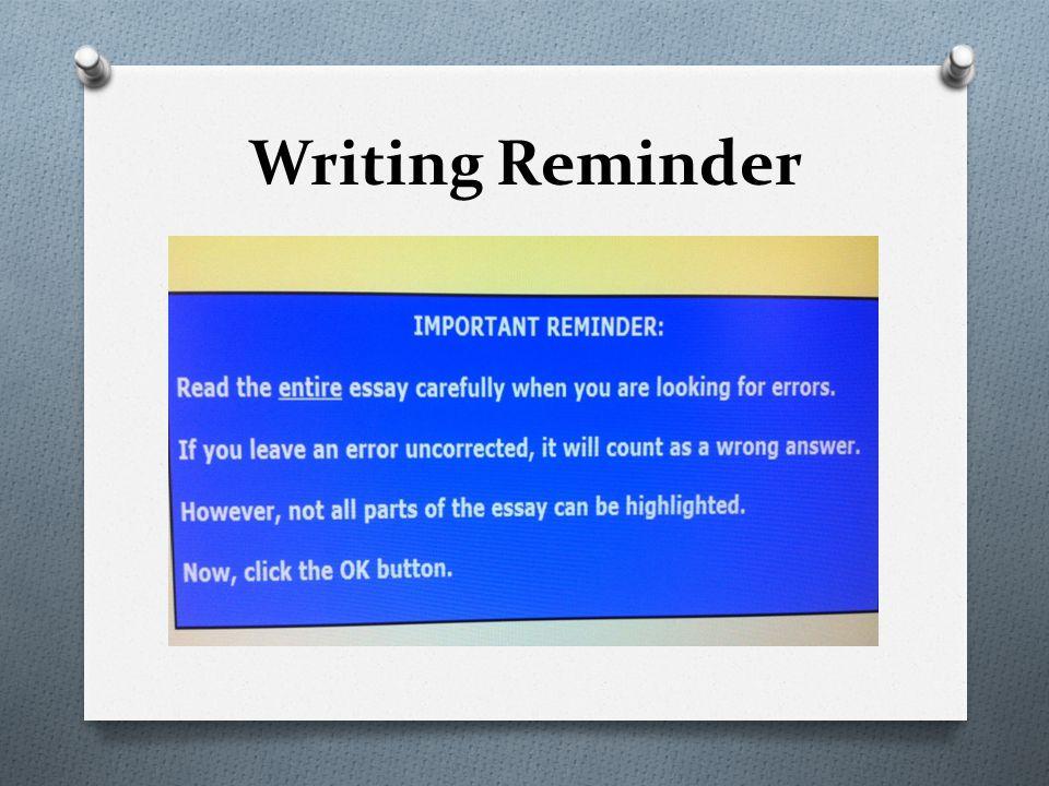 Writing Reminder