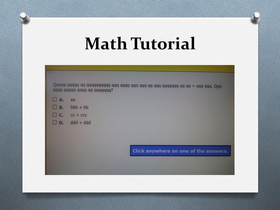Math Tutorial