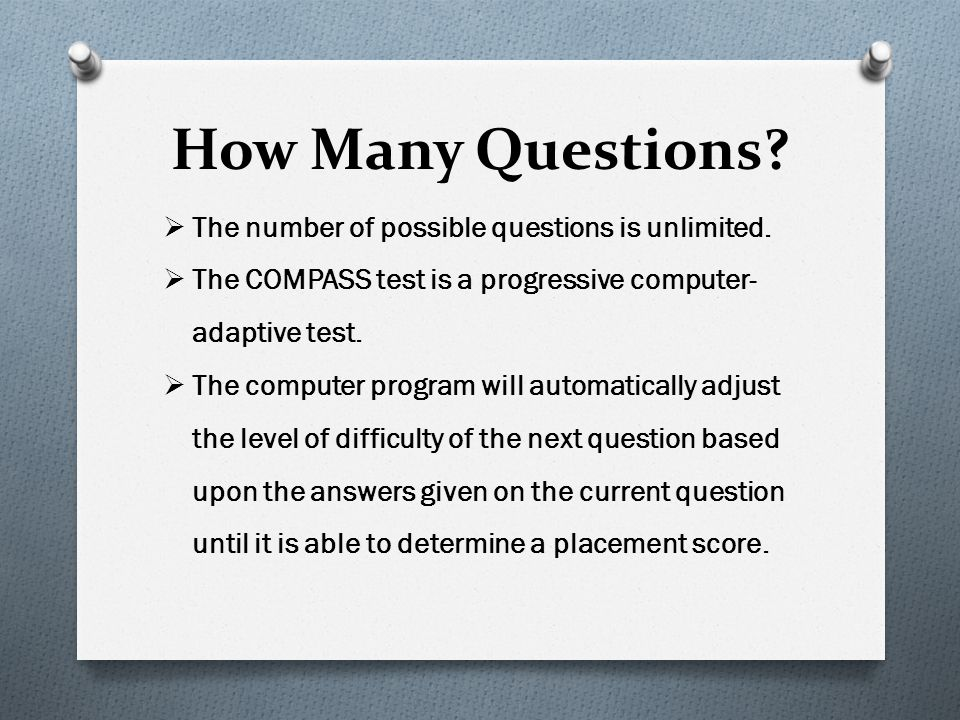 How Many Questions The number of possible questions is unlimited.