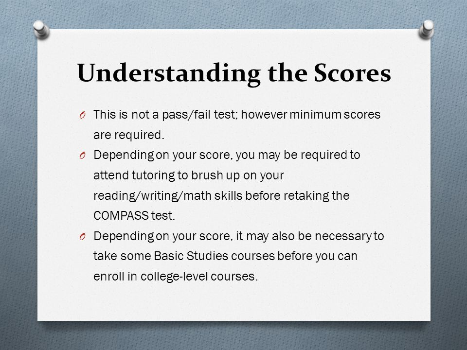 Understanding the Scores