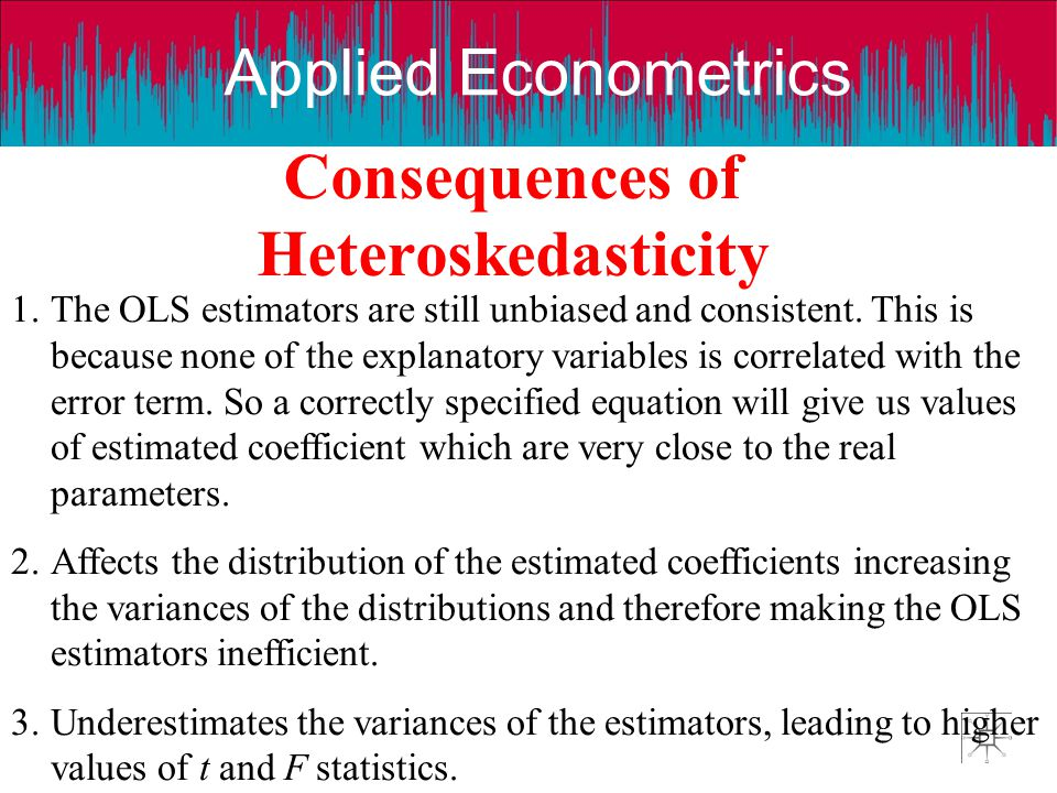 Consequences of Heteroskedasticity