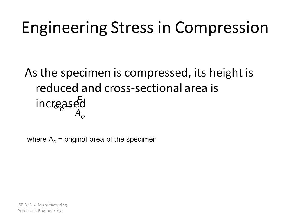 Engineering Stress in Compression