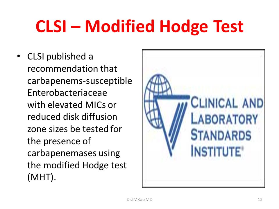 CLSI – Modified Hodge Test
