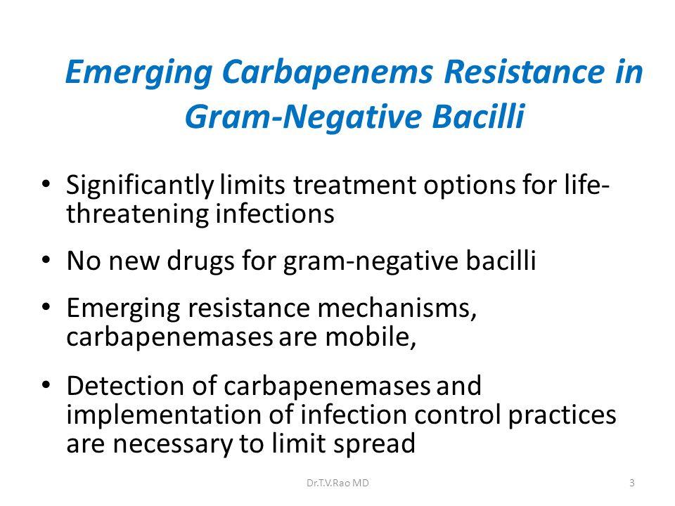 Emerging Carbapenems Resistance in Gram-Negative Bacilli