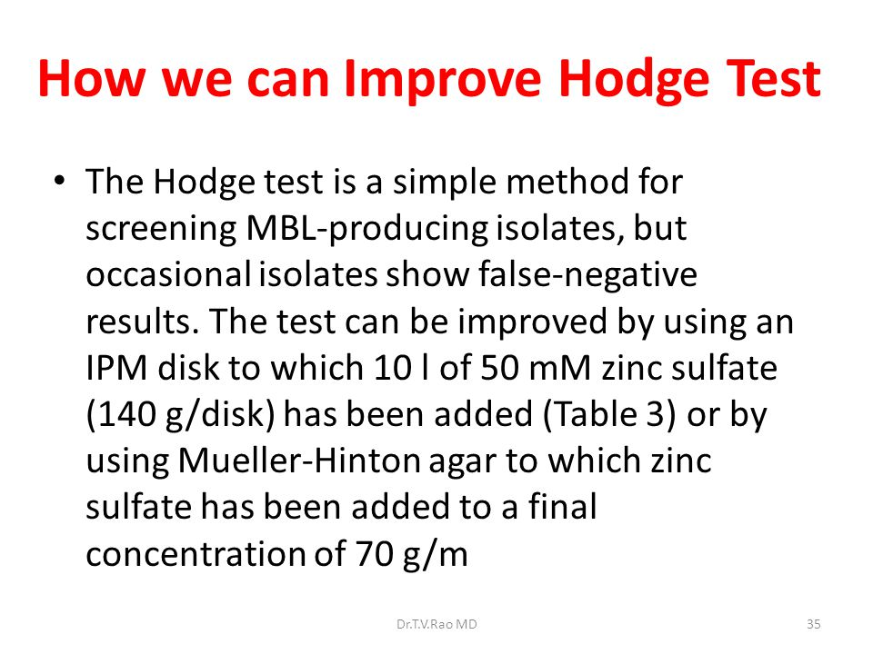 How we can Improve Hodge Test