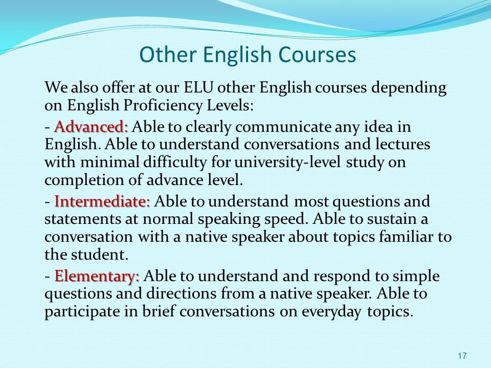 Other English Courses