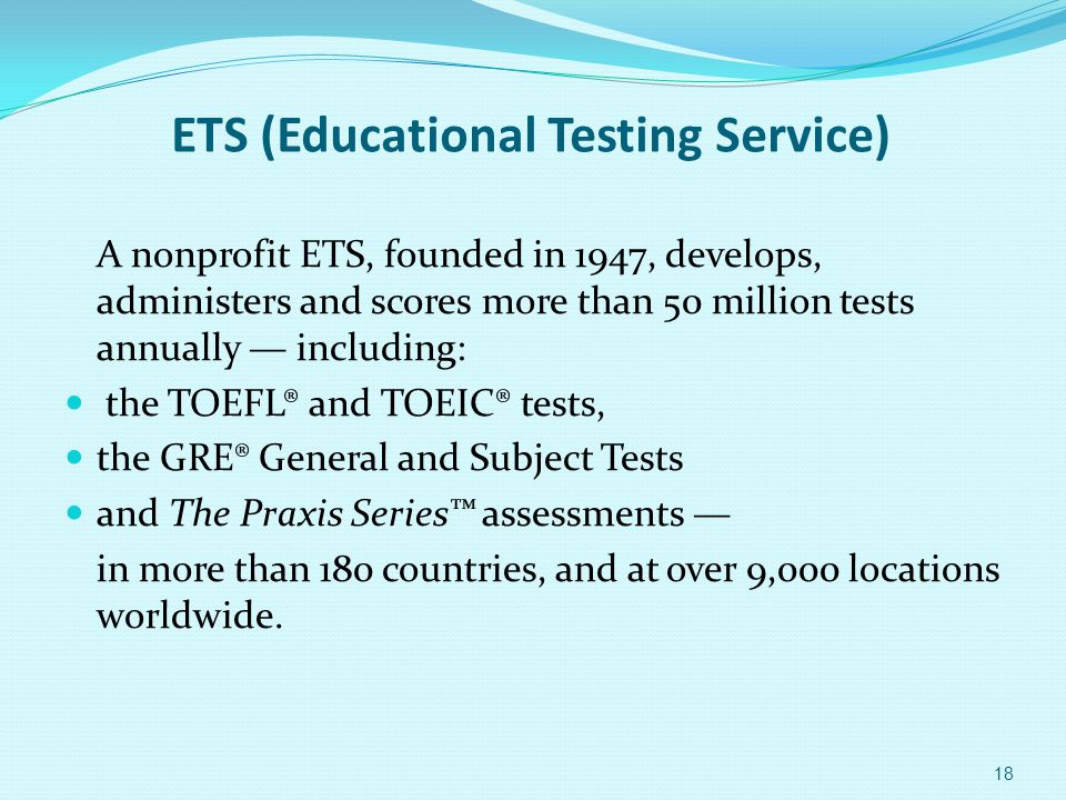ETS (Educational Testing Service)