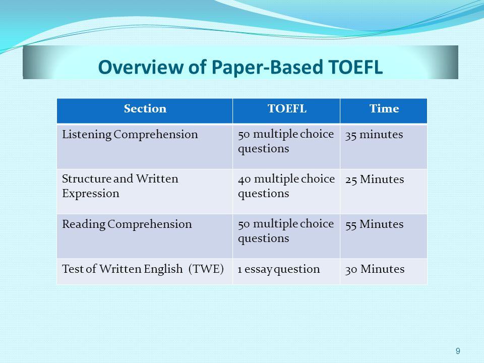 all toefl essay questions