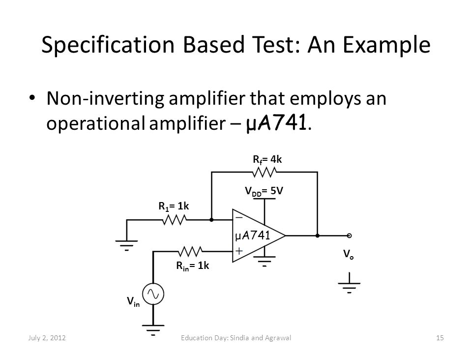 Specification Based Test: An Example