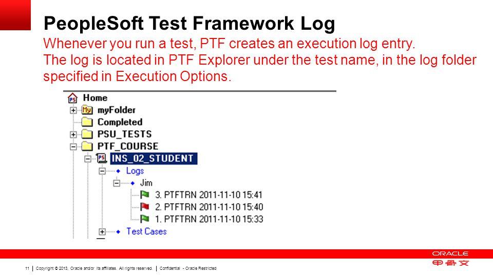 PeopleSoft Test Framework Log