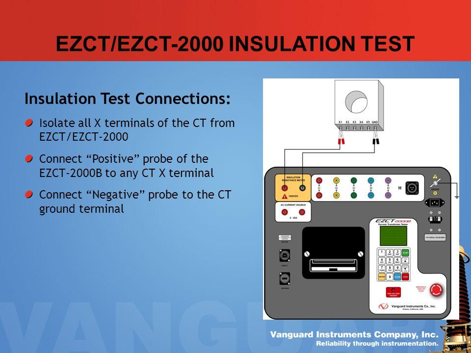 EZCT/EZCT-2000 INSULATION TEST