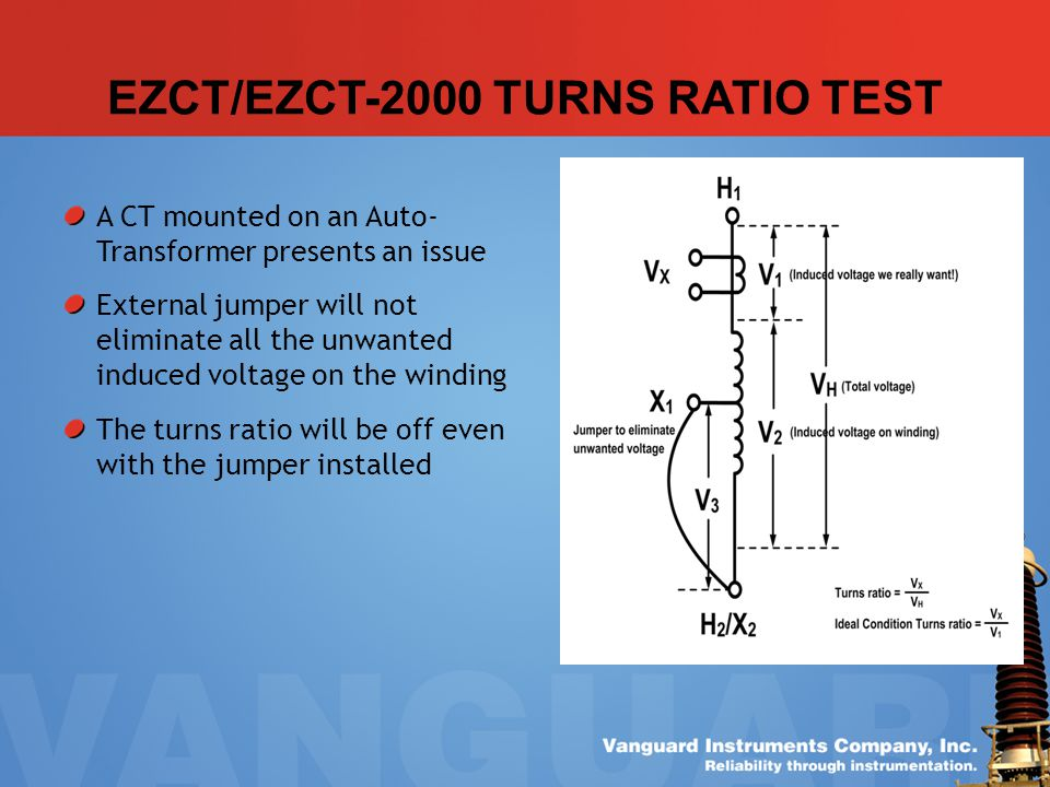 EZCT/EZCT-2000 TURNS RATIO TEST