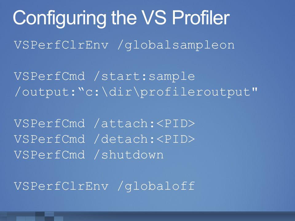 Configuring the VS Profiler