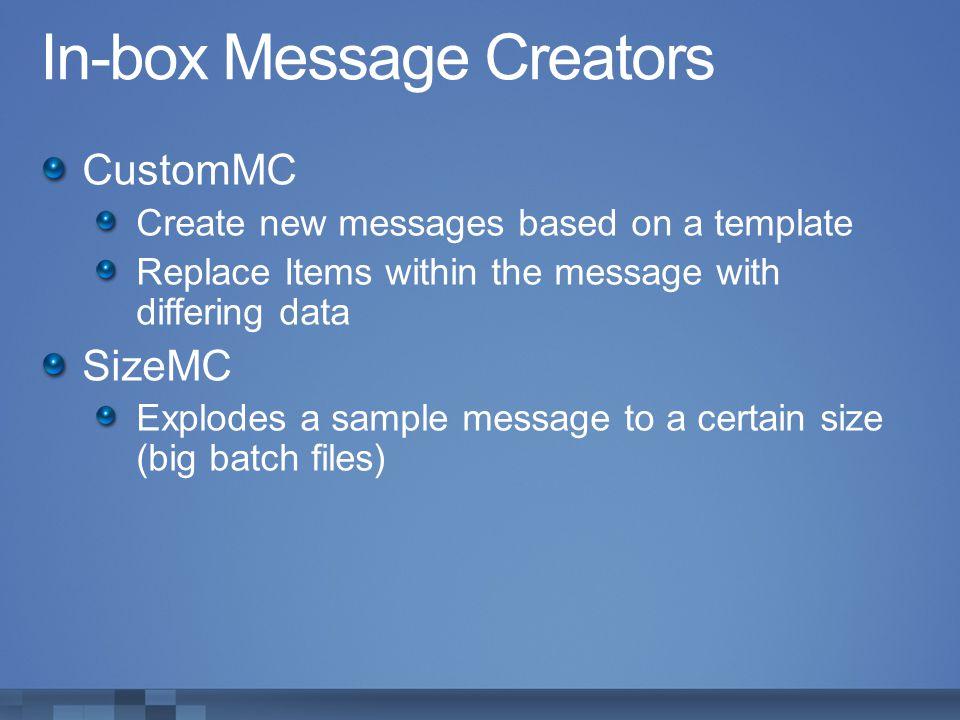 In-box Message Creators