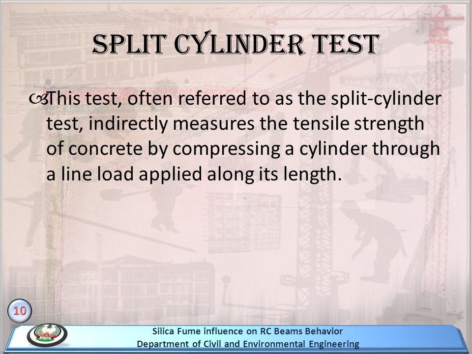 Split cylinder test