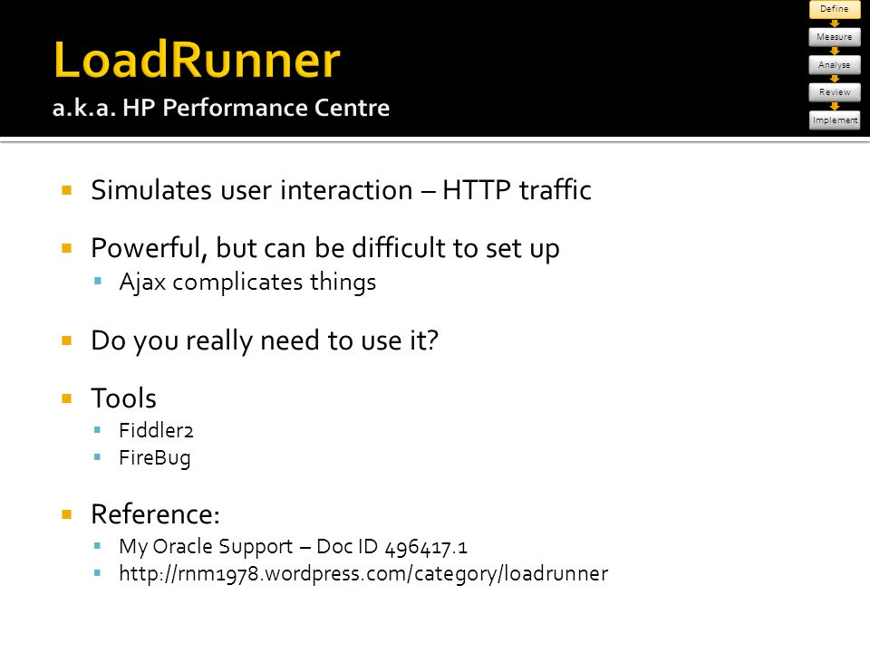 LoadRunner a.k.a. HP Performance Centre