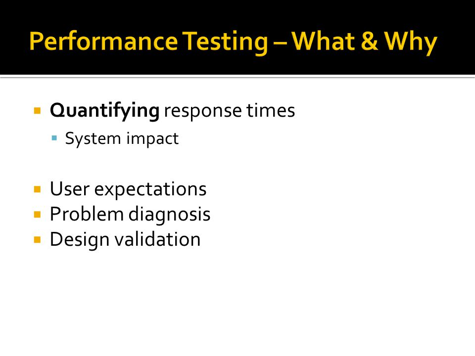 Performance Testing – What & Why