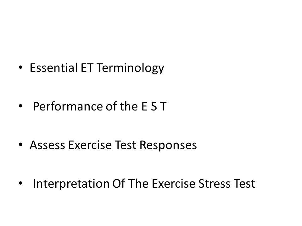 Essential ET Terminology