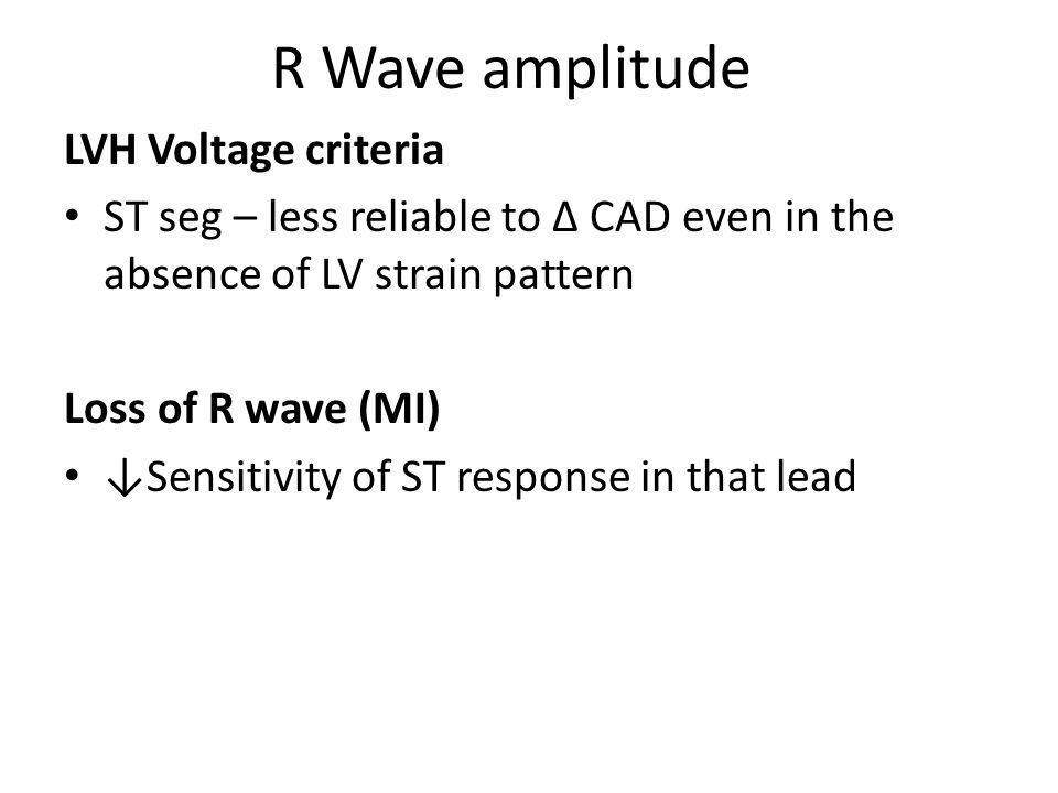 R Wave amplitude LVH Voltage criteria
