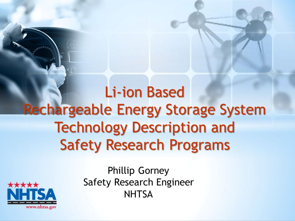 Phillip Gorney Safety Research Engineer NHTSA