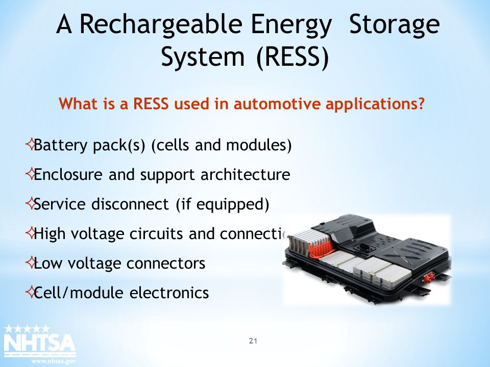 What is a RESS used in automotive applications