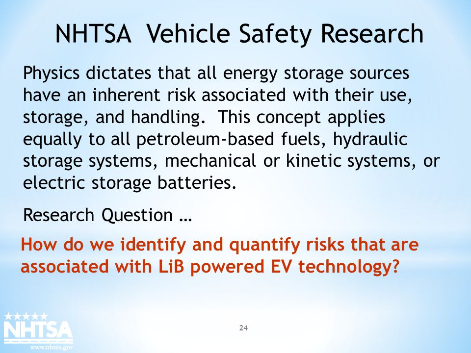 NHTSA Vehicle Safety Research