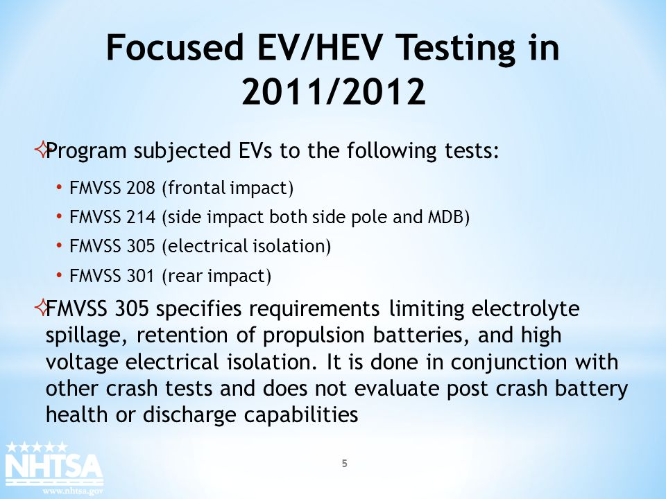 Focused EV/HEV Testing in 2011/2012