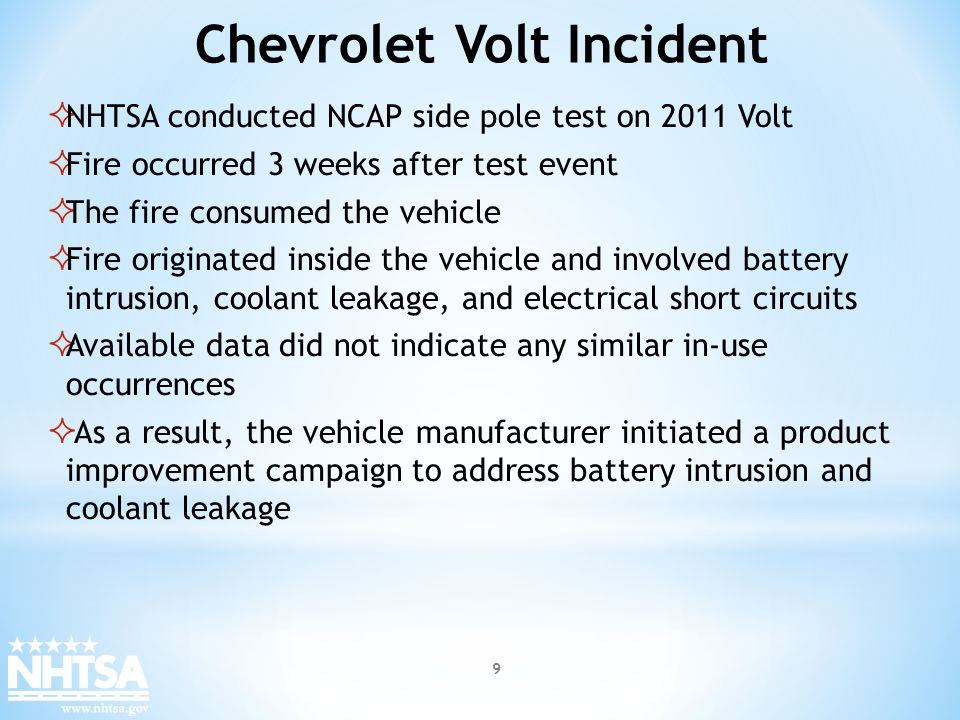 Chevrolet Volt Incident