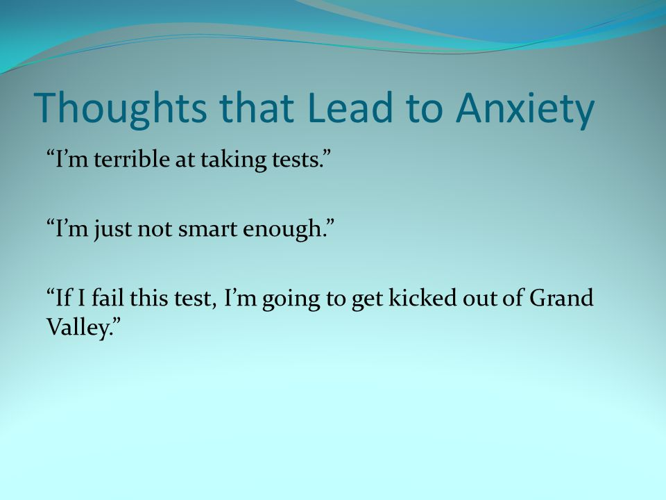 overcoming test anxiety ppt