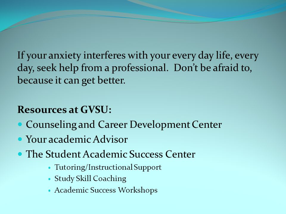 Counseling and Career Development Center Your academic Advisor