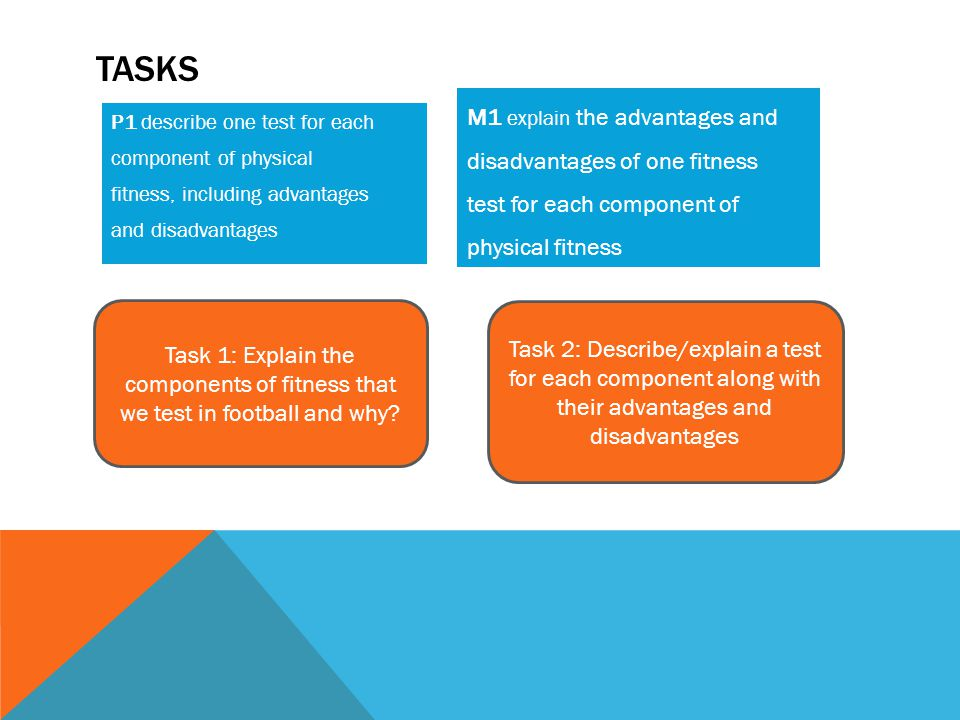 Tasks M1 explain the advantages and disadvantages of one fitness